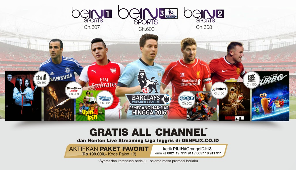 Promo Voucher Orange TV Bulan Oktober 2014 (Gratis All Channel)