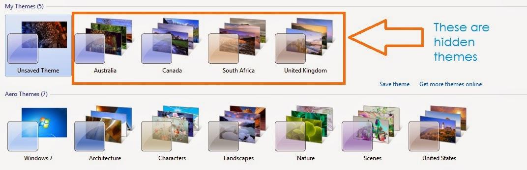 Windows 7 hidden themes