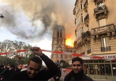 Γέλαγαν μουσουλμάνοι μπροστά από την φλεγόμενη Notre-Dame; 1