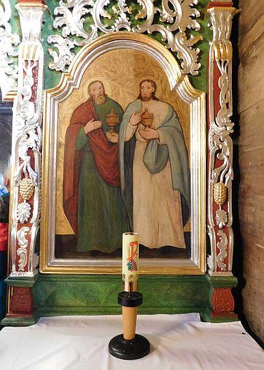 Ikona namiestna przedstawiająca świętych Kosmę i Damiana.