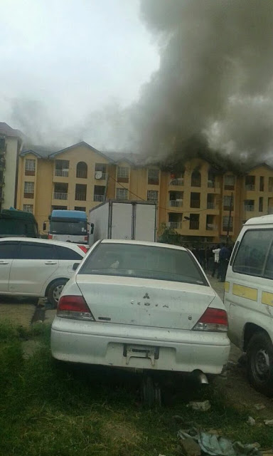 Tenants Shocked As Huge Fire Engulfs Their Homes In Fedha Estate, Embakasi (Photos)