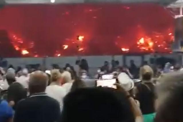 Συγκλονιστικές εικόνες από την εκκένωση στη Λίμνη Ευβοίας μέσα από το φέρι μποτ (βίντεο)