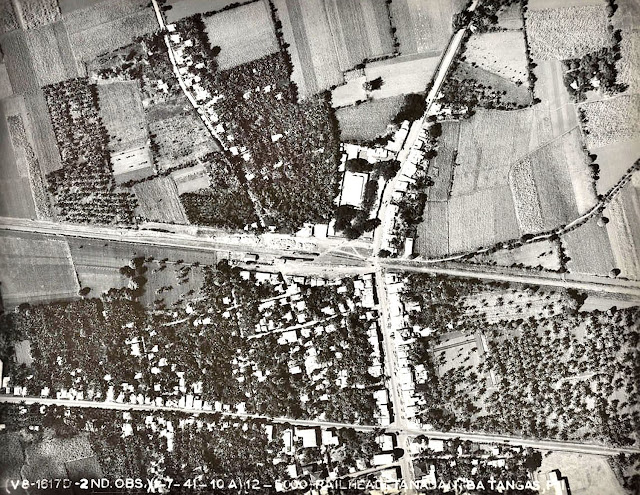 An aerial photograph of Tanauan taken in 1941.  Image source:  United States National Archives.