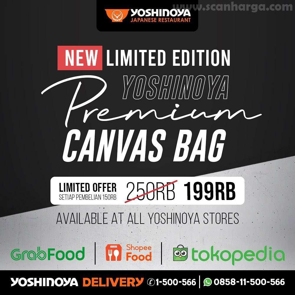 Yoshinoya Premium Canvas Bag harga Spesial hanya 199Ribu