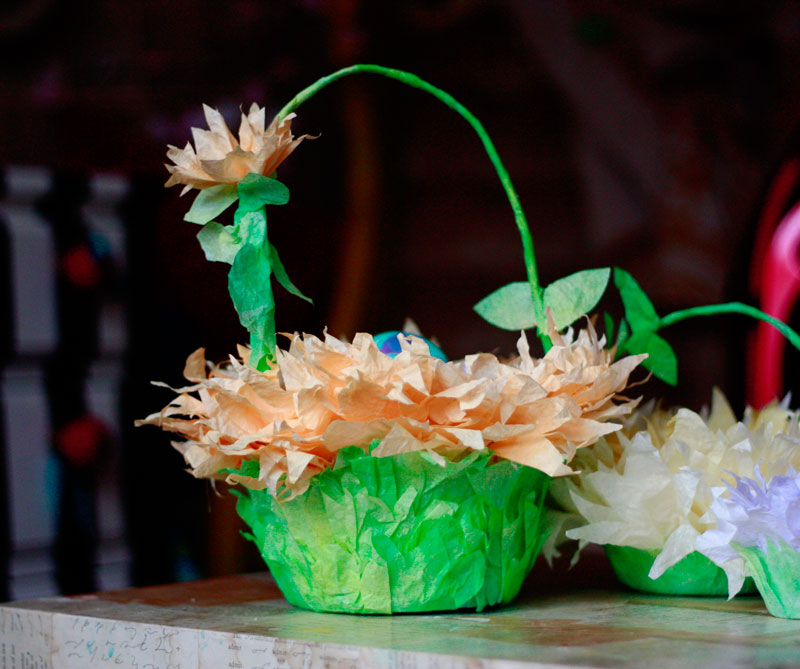 Friday Flowers Coffee Filter Easter Baskets In Bloom Aunt Peaches