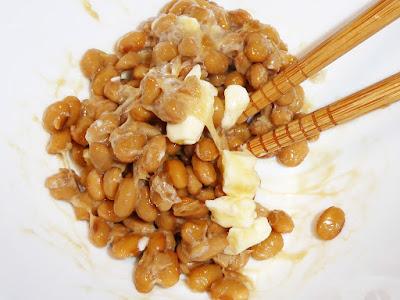 納豆にバター醤油