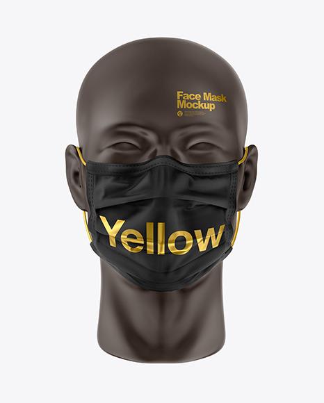 3 Design Face Mask Mockup