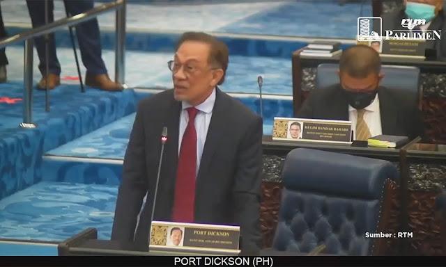 Speaker umum Anwar ketua pembangkang parlimen