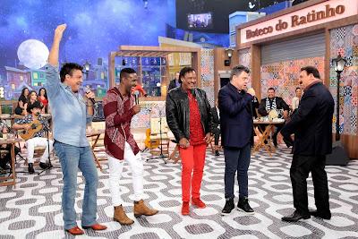 Paulinho, Beto Jamaica, Compadre Washington, Paulinho e Ratinho - Crédito: Lourival Ribeiro/SBT
