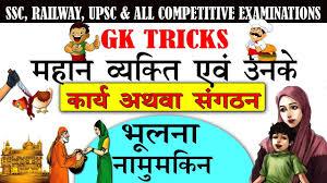 RRB NTPC aur GROUP D GS:महान वयक्ति और उनके कार्य