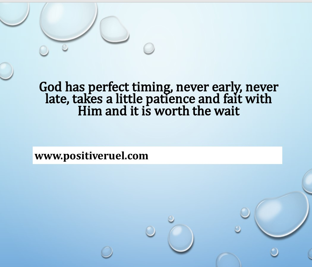 Inspirational Quotes God Has Perfect Timing Never Early Never