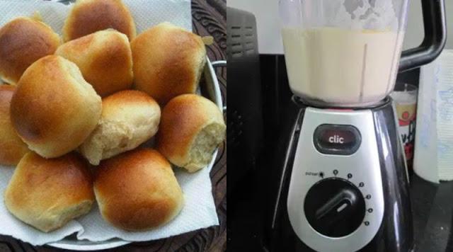 Pão caseiro de liquidificador – Fofinho e FÁCIL DE FAZER 😋