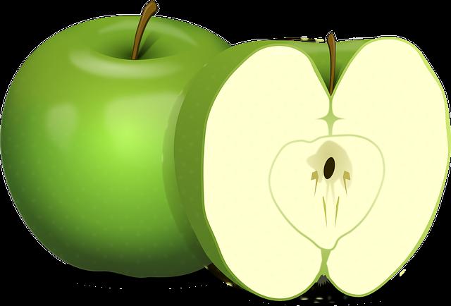 gambar buah apel kartun