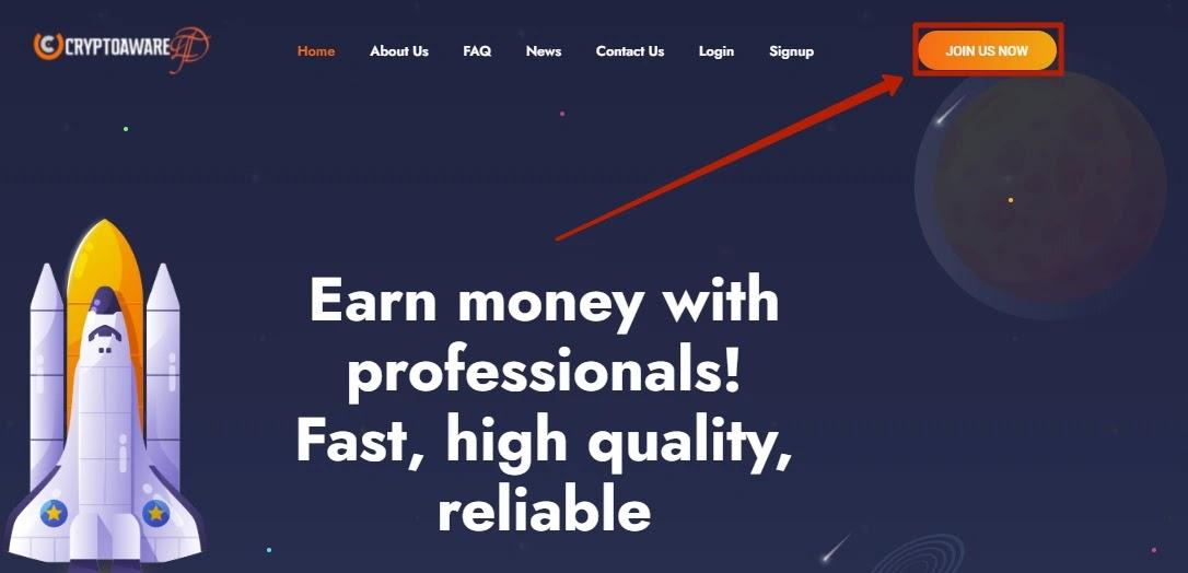 Регистрация в Crypto Aware Ltd