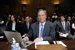 Eric Schmidt at congressional hearing
