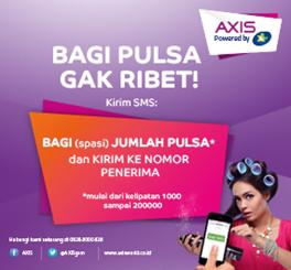 Pulsa Transfer AXIS Murah telah tersedia di Market Pulsa