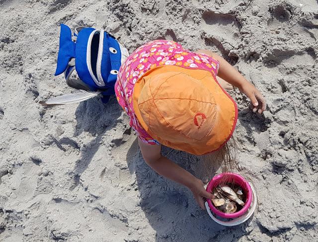 Warum unsere Kinder ihre Rucksäcke selbst tragen (+ Rucksack-Tipps). In ihrem Hai-Strandrucksack trägt unser Mädchen ihr Spielzeug sowie ihre Trinkflasche selbst. Der Rucksack hat ein geringes Gewicht und ist ihrem Alter angemessen.