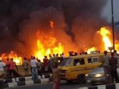 NEWS: Pipeline Fire Explosion At Ekoro Abule Egba