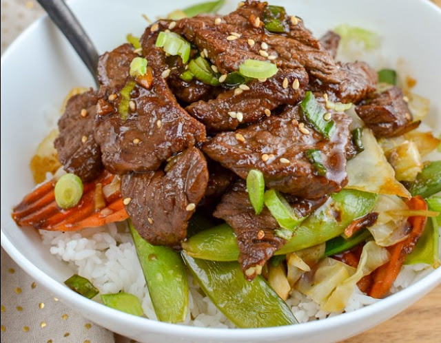 Slow Cooker Teriyaki Beef #dinner #beef