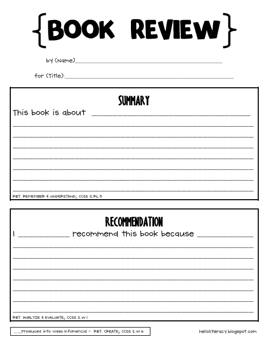 Doc700990 Book Report Template for High School How to write a – High School Book Report Outline