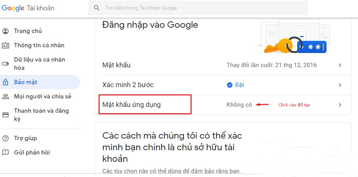 Hướng dẫn tạo mật khẩu ứng dụng cho Gmail - 3