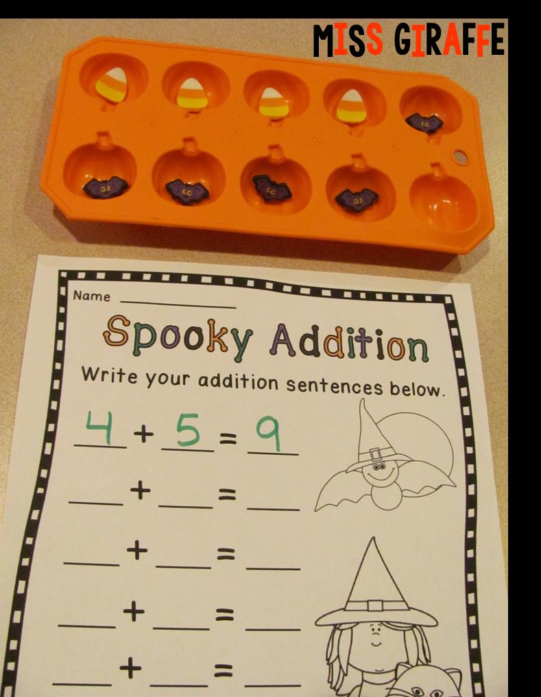 Miss Giraffe's Class: Halloween Math Ideas [ 1016 x 789 Pixel ]