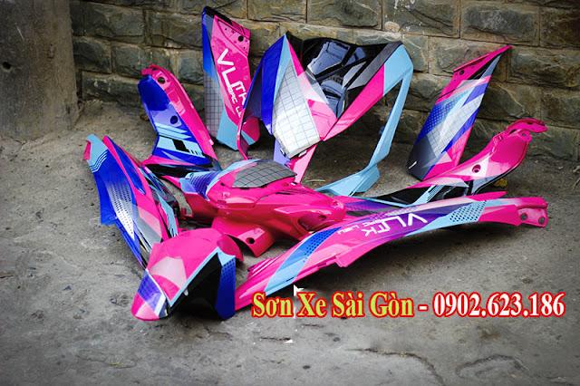 Mẫu sơn tem đấu xe Honda Air blade phong cách cực đẹp