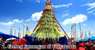 Grebeg Gunungan di Yogyakarta merupakan salah satu tradisi unik di Indonesia saat merayakan Idul Adha