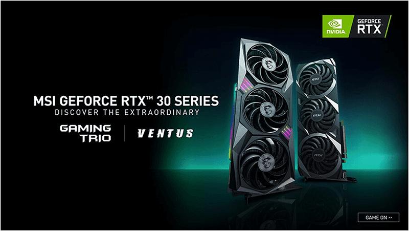 MSI reveals first custom NVIDIA GeForce RTX 30 series GPUs