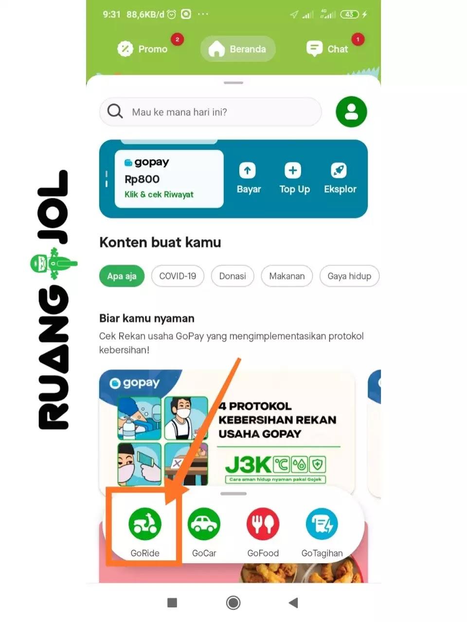 Cara Menggunakan LinkAja untuk Pembayaran di Aplikasi Gojek Customer