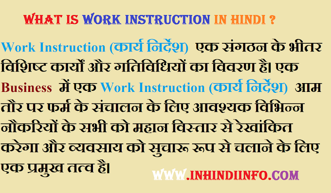 What is Work Instruction in Hindi?