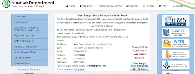 State of West Bengal Finance Department
