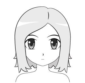 Contoh cara menggambar rambut anime pendek