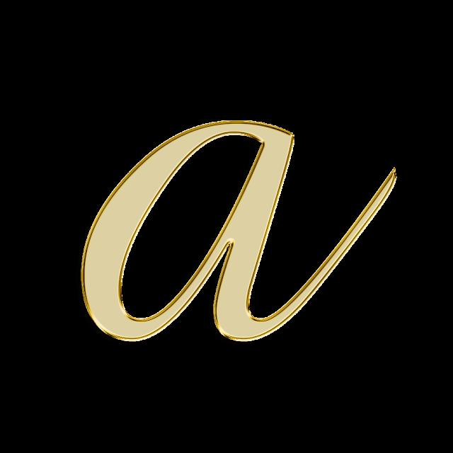foto de Blindada por Deus: Alfabeto decorativo DOURADO PNG