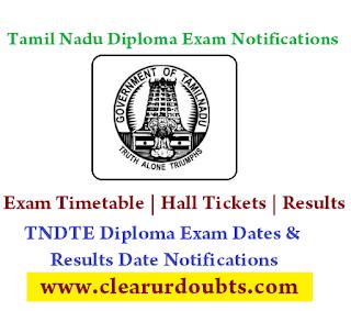 Tamilnadu Diploma /Polytechnic Exam Timetable & results date