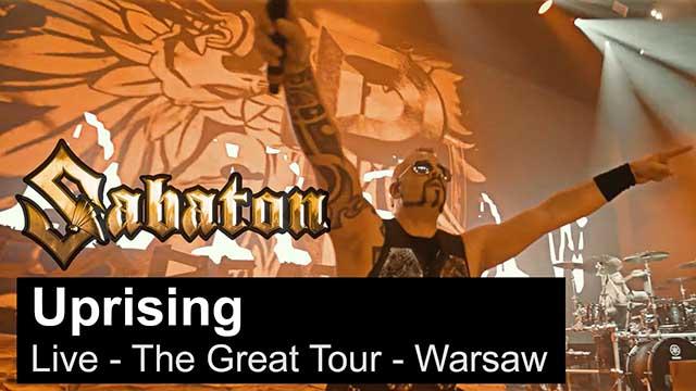 """Sabaton - """"Uprising"""" (Live - The Great Tour - Warsaw)"""