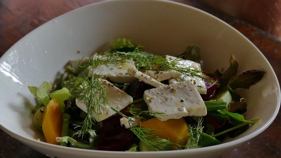 salada de tofu