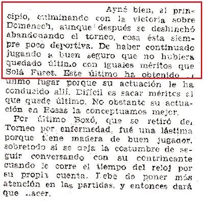 Recorte de El Mundo Deportivo, 29/3/1936