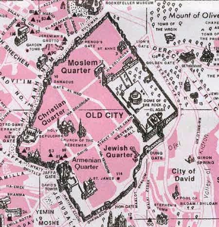 peta wilayah baitul maqdis