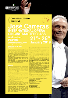 4th JOSÉ CARRERAS INTERNATIONAL SINGING MASTERCLASS - PESARO 2019