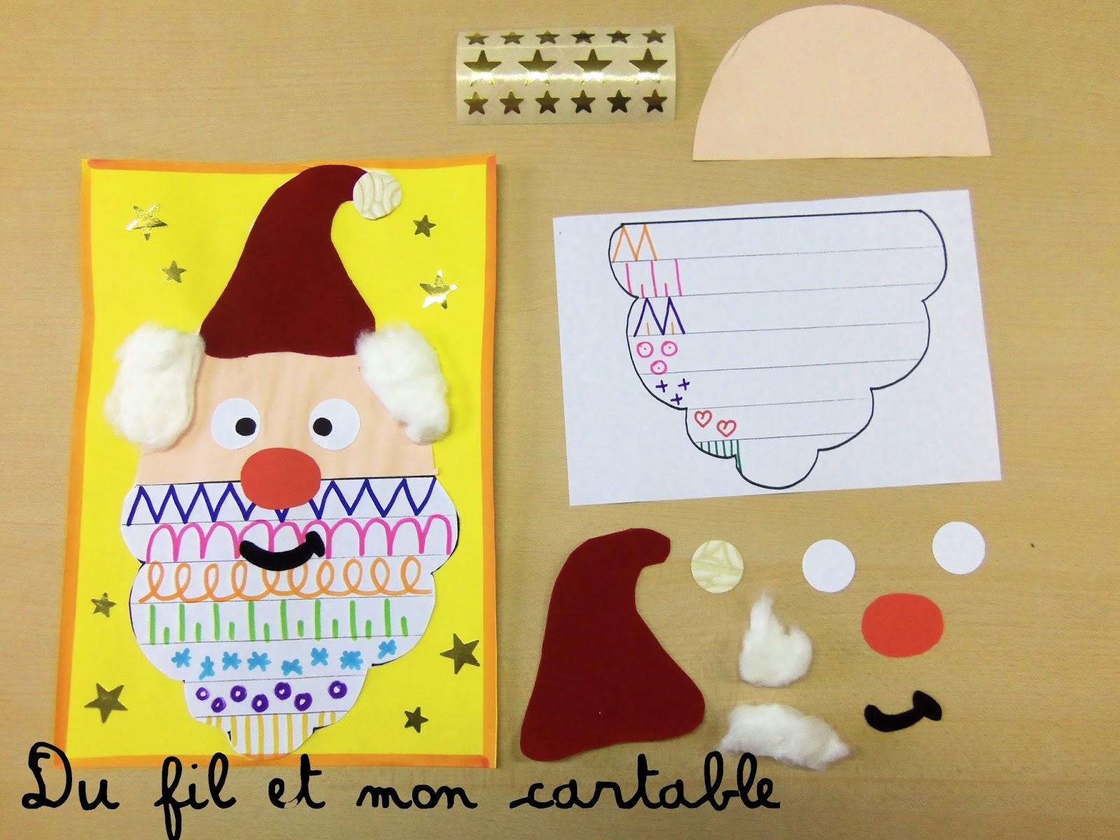 Du fil et mon cartable p re no l et graphisme - Pere noel maternelle ...