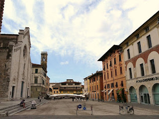 The Piazza del Duomo is the main square in Pietrasanta, a town 32km (20miles) north of Pisa