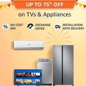 Up yo 75% off on TVs & Appliances