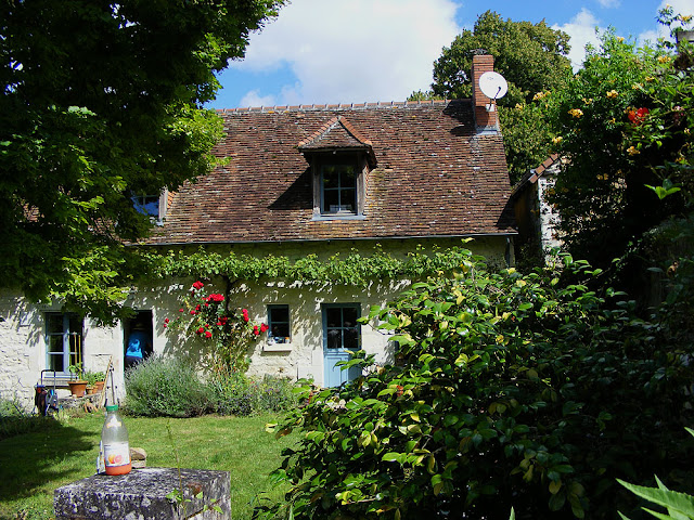 Charming rural house.  Indre et Loire, France. Photographed by Susan Walter. Tour the Loire Valley with a classic car and a private guide.