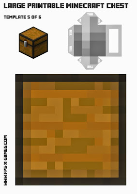 large printable Minecraft chest