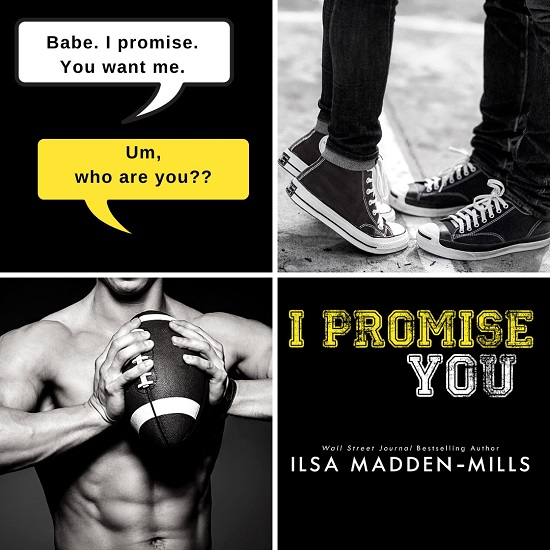 White Text Box: Babe. I promise. You want me. Yellow Text Box: Um, who are you? I Promise You by Ilsa Madden-Mills