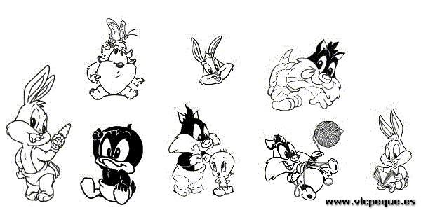 Dibujos Para Colorear De Luny Tunes Bebes: Dibujos Para Colorear De Looney Tunes. Stunning Looney