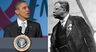 Barack Obama and Teddy Roosevelt