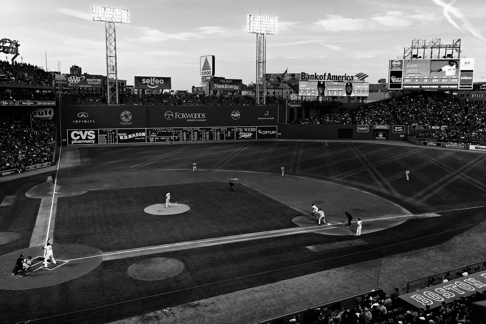 My Memory Art: Black & White Wednesday ~ Fenway Magic