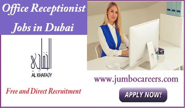 Receptionist Job description Dubai, Salary details of Abu Dhabi receptionist jobs,